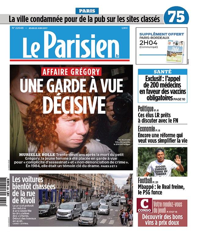 télécharger Le Parisien + Journal De Paris Du Jeudi 29 Juin 2017