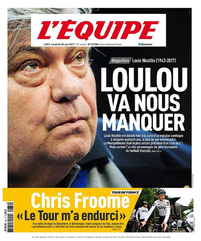 télécharger L'Equipe Du Vendredi 30 Juin 2017