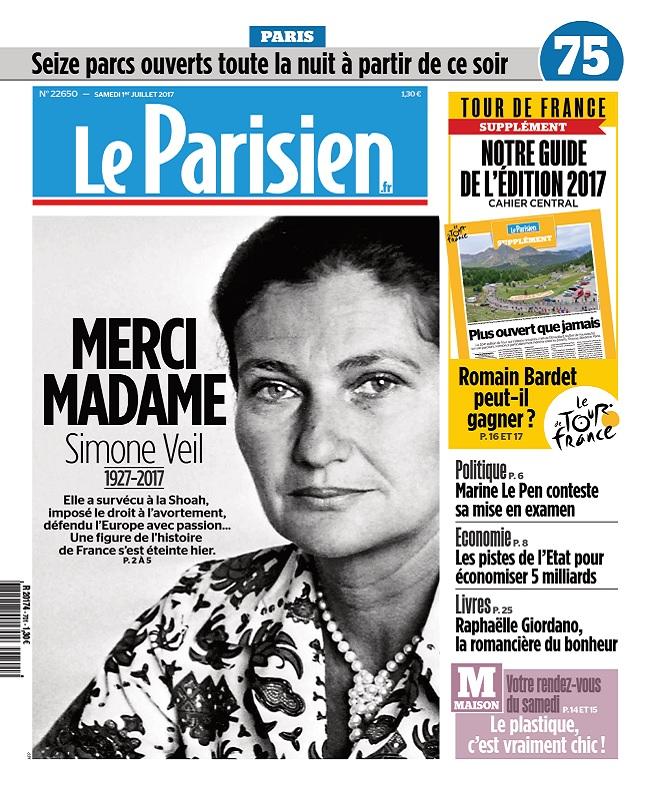 télécharger Le Parisien + Journal De Paris Du Samedi 1er Juillet 2017