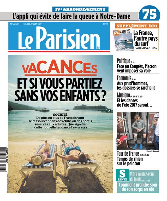 télécharger Le Parisien + Eco + Journal De Paris Du Lundi 3 Juillet 2017
