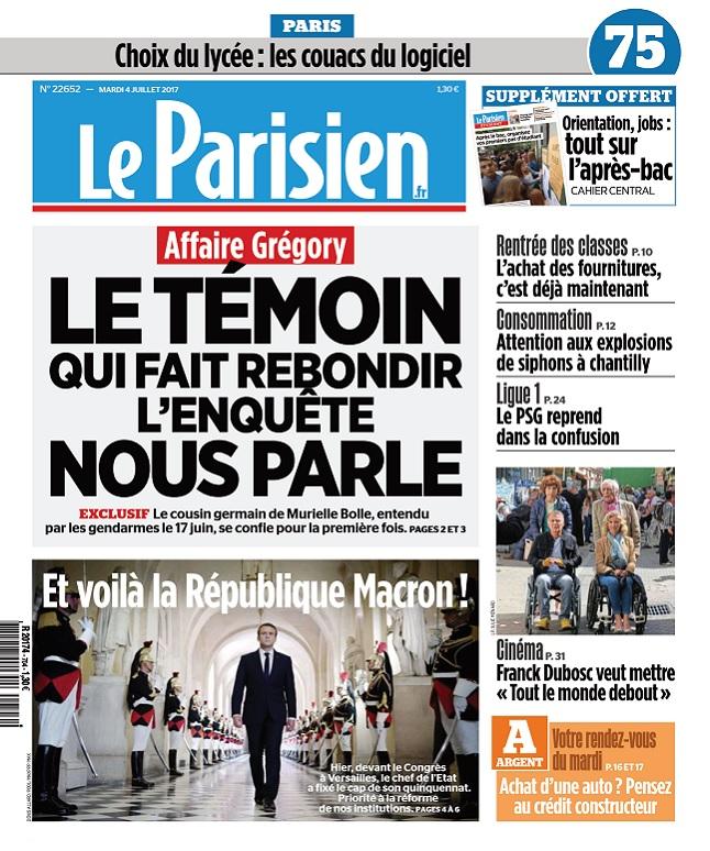 télécharger Le Parisien + Journal De Paris Du Mardi 4 Juillet 2017