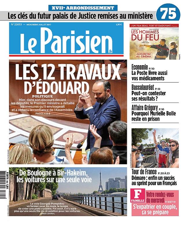 télécharger Le Parisien + Journal De Paris Du Mercredi 5 Juillet 2017