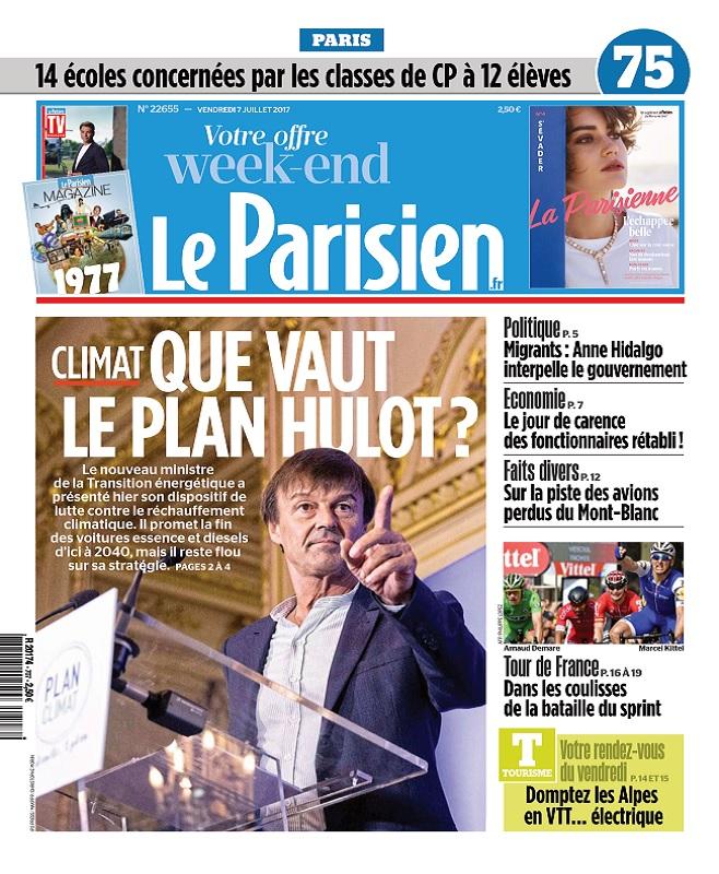 télécharger Le Parisien + Magazine + Journal De Paris Du Vendredi 7 Juillet 2017