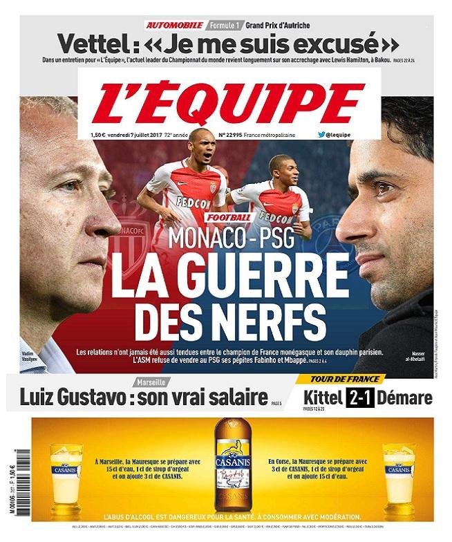 télécharger L'Equipe Du Vendredi 7 Juillet 2017