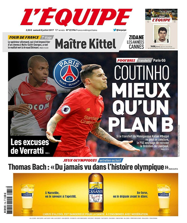 télécharger L'Equipe Du Samedi 8 Juillet 2017