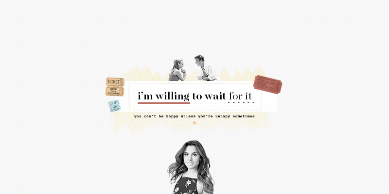 i'm willing to wait for it.