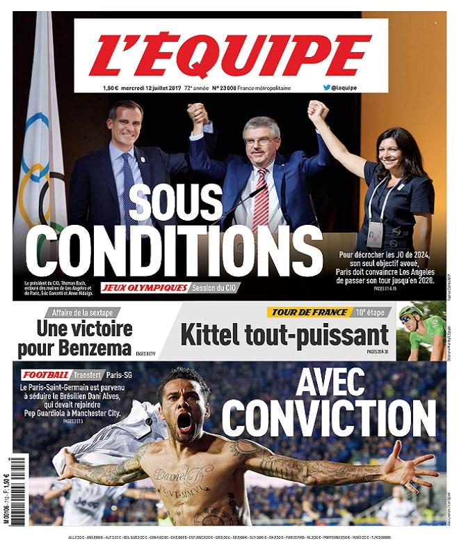 télécharger L'Equipe Du Mercredi 12 Juillet 2017