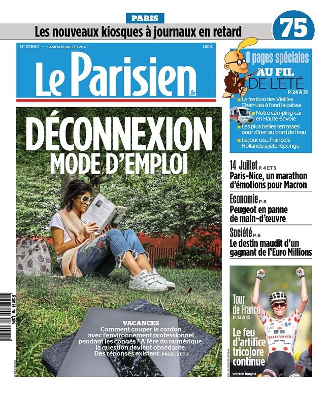 télécharger Le Parisien + Journal De Paris Du Samedi 15 Juillet 2017