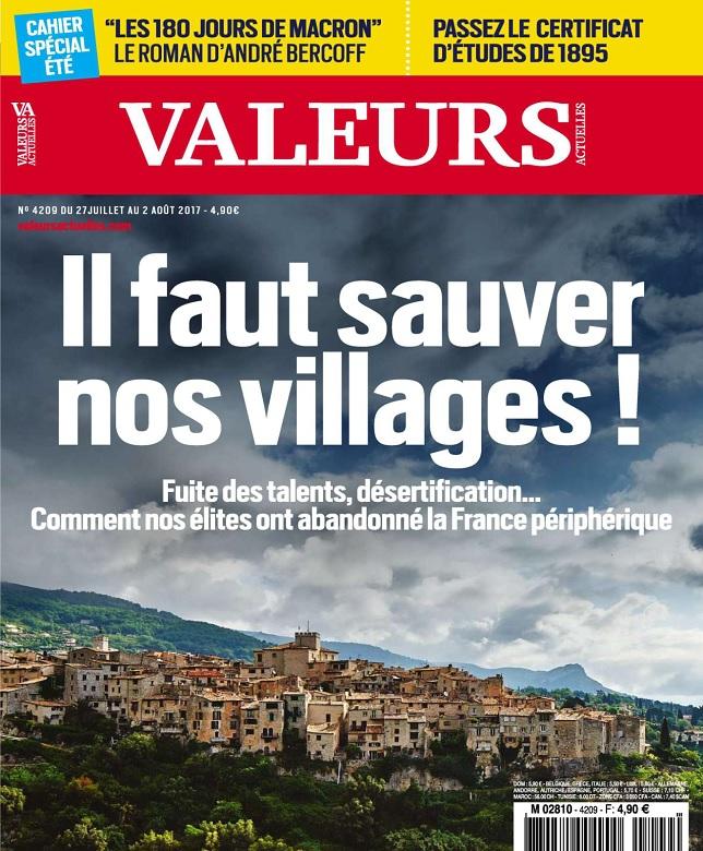 télécharger Valeurs Actuelles N°4209 Du 27 Juillet au 2 Août 2017