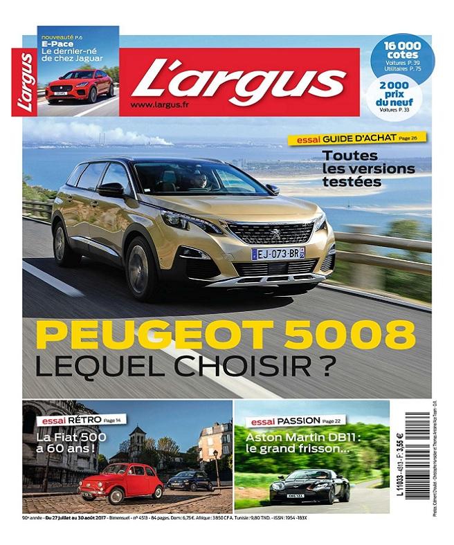 télécharger L'Argus N°4513 Du 27 Juillet au 30 Août 2017