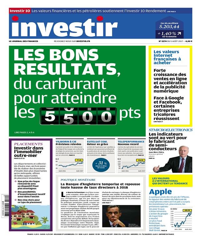 télécharger Investir N°2274 Du 5 Août 2017