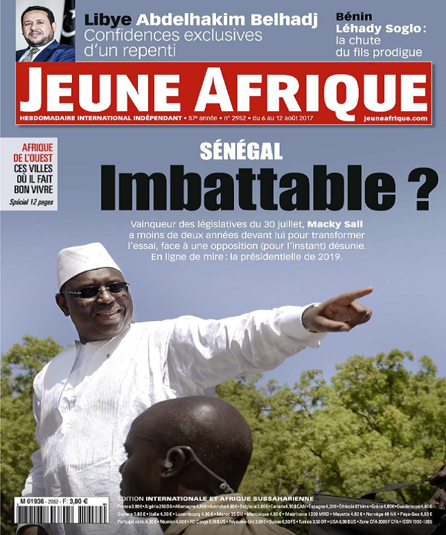 Jeune Afrique N°2952 Du 6 au 12 Août 2017