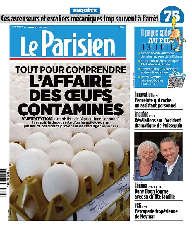 télécharger Le Parisien + Journal De Paris Du Mardi 8 Aout 2017
