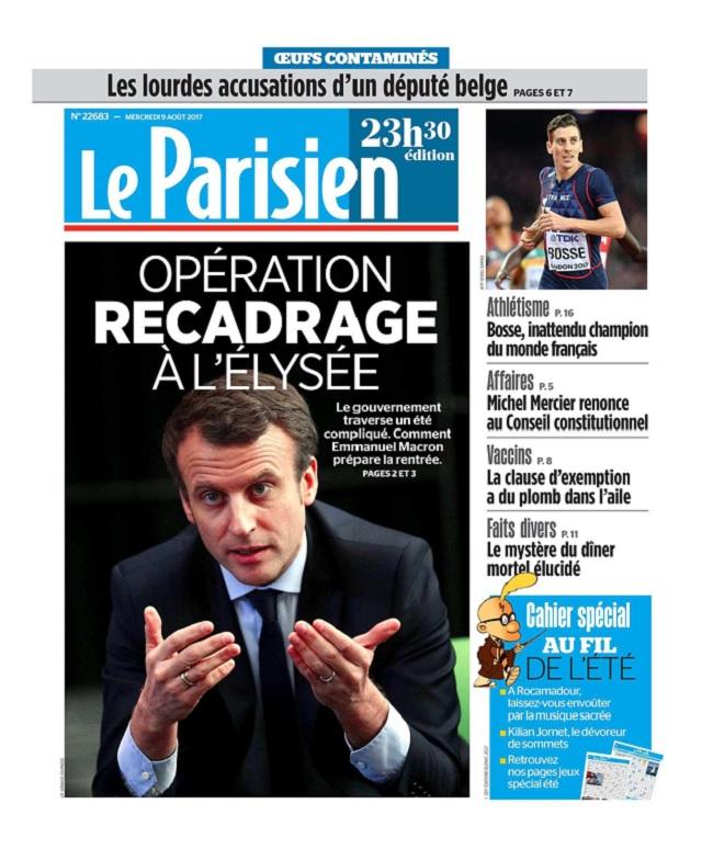 Le Parisien Du Mercredi 9 Août 2017