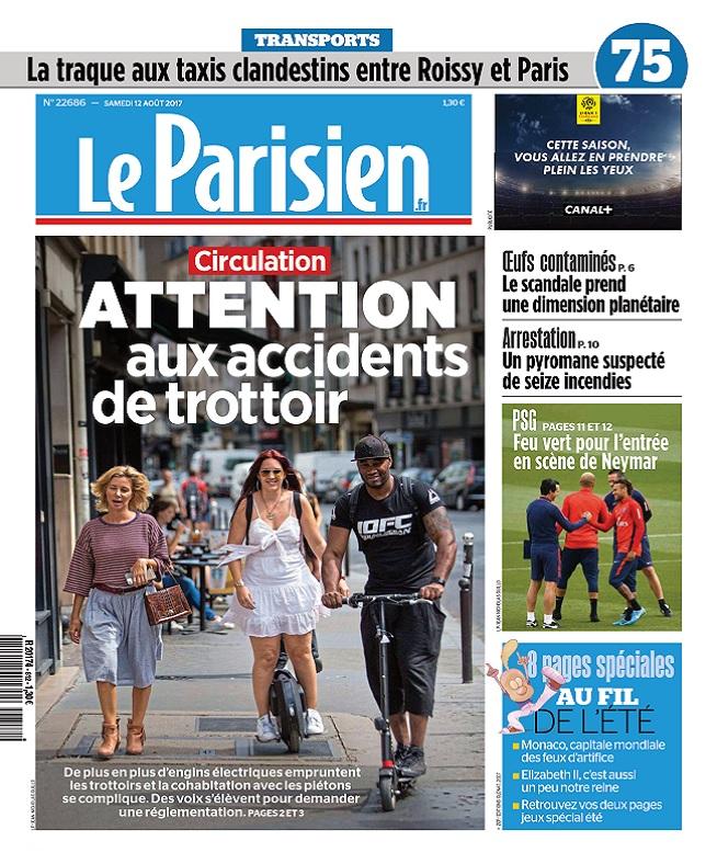 Le Parisien Du Samedi 12 Août 2017
