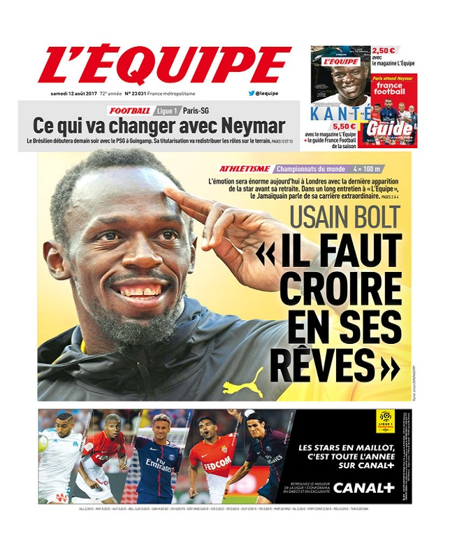 télécharger L'Equipe Du Samedi 12 Août 2017