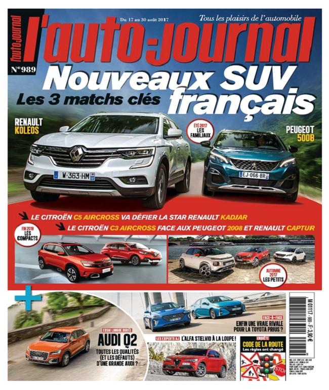 L'Auto-Journal N°989 Du 17 au 30 Août 2017