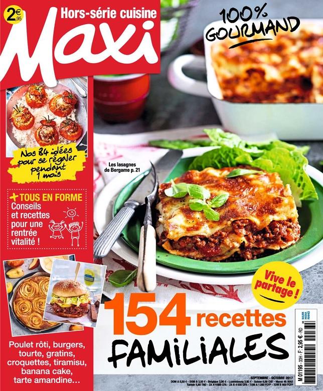 Maxi Hors Série Cuisine N°33 - Septembre-Octobre 2017