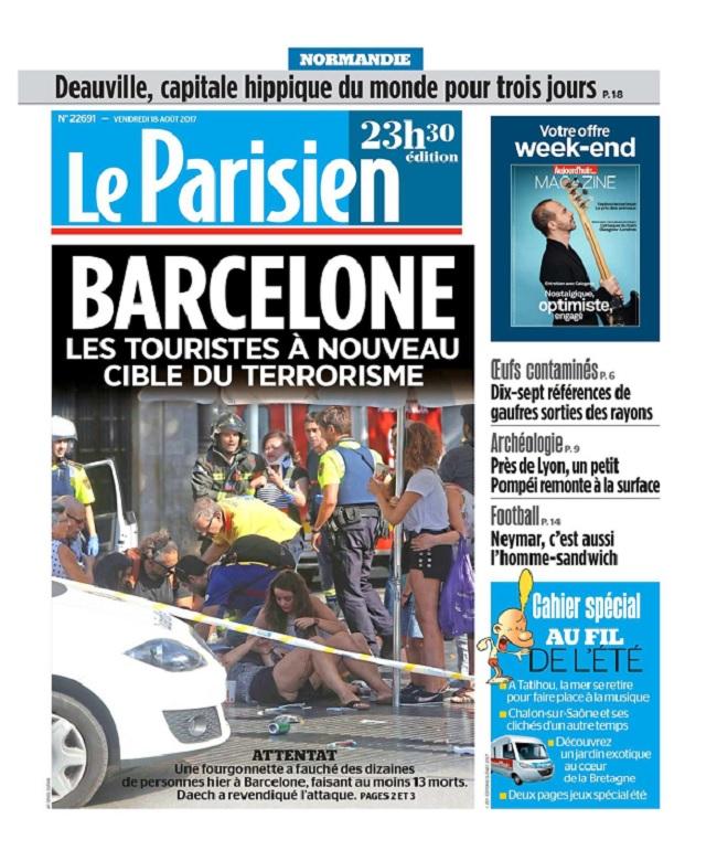Le Parisien Du Vendredi 18 Août 2017
